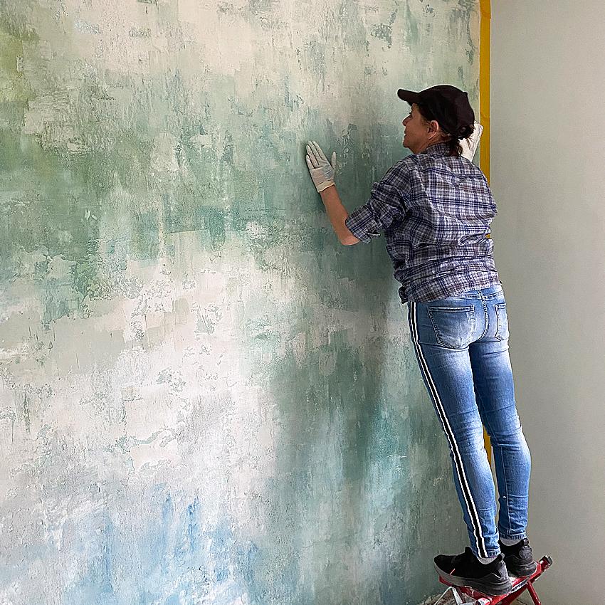 Wandgestaltung, Unikatwand, Seminar, Coaching, Maler Oldenburg, Bremen, Delmenhorst